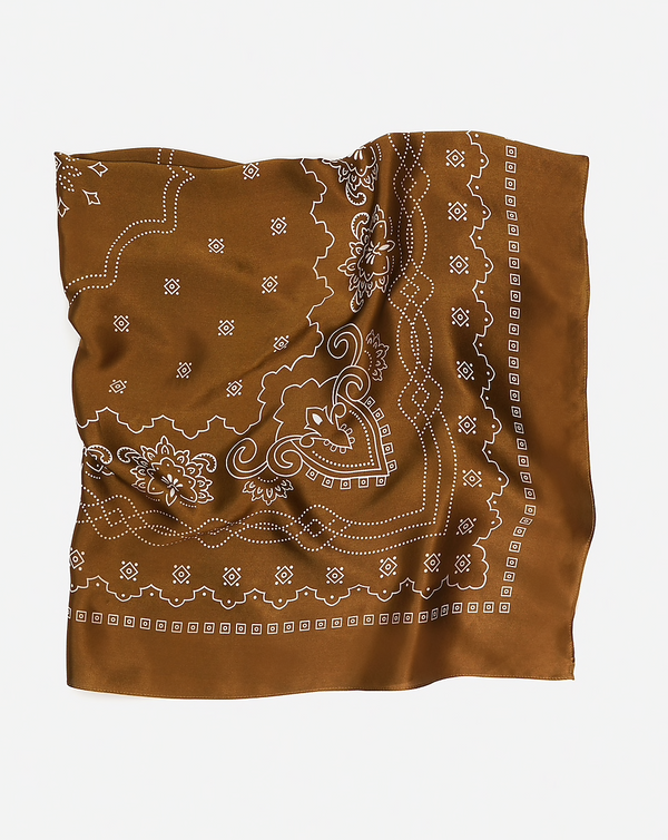 XL The Western - Brown Silk Bandana