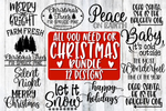 All You Need For Christmas Bundle - 12 Design Included