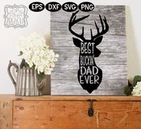 Best Buckin' Dad Ever svg, Father's Day SVG