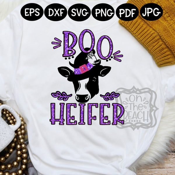 Halloween SVG , Boo Heifer , Boo Heifer svg, Heifer svg