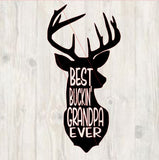 Best Buckin' Grandpa Ever svg, instant download, father's day deer svg, best grandpa ever svg, dxf, studio, svg cutting file, best grandpa
