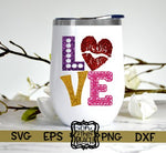 LOVE - SVG - PNG - GLITTER - VALENTINES DAY
