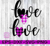 Love - Make your own Buffalo Plaid SVG