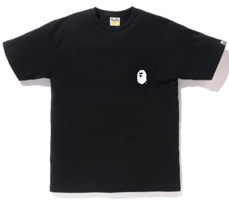 BATHING APE Head Pocket Tee Black