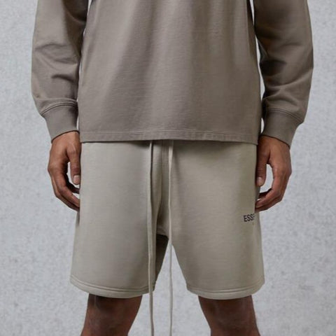 FEAR OF GOD Essentials 3M Reflective Logo Shorts Olive