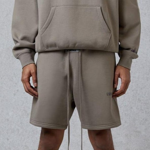 FEAR OF GOD Essentials 3M Reflective Logo Shorts Taupe
