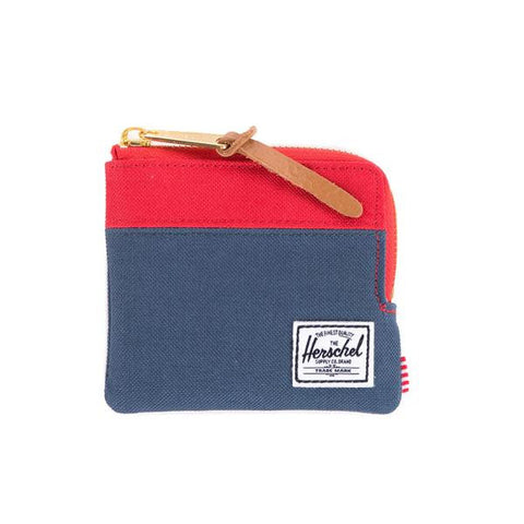 Herschel Supply Johnny Zip Wallet (Navy/Red)