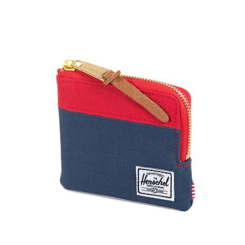 (SALE) Herschel Supply Johnny Zip Wallet (Navy/Red)
