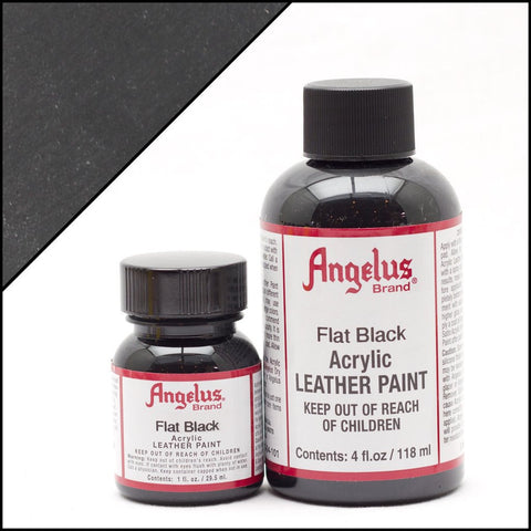 Angelus Leather Shoe Paint (Flat Black)