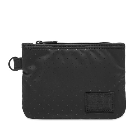 Head Porter Japan Black Beauty Black Dot Zip Wallet