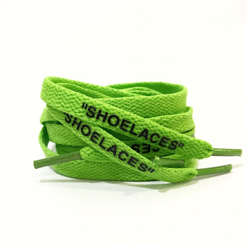 SHOELACES Off White Replacement Shoelaces Neon Green