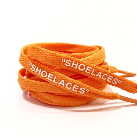 SHOELACES Off White Replacement Shoelaces Neon Orange