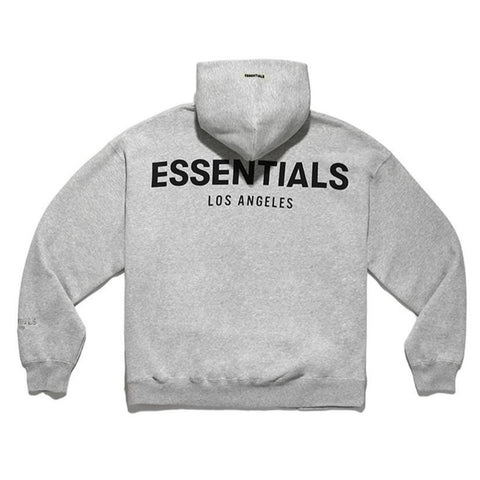 FEAR OF GOD Essentials Logo Los Angeles Hoodie Grey (Limited Time Promo)