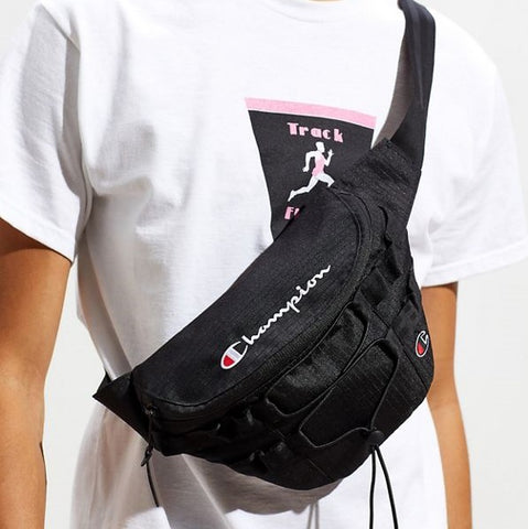 Champion RW Script Logo Hip Sack Bag Black