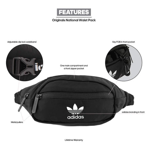 Adidas Originals National Waist Bag (Black)
