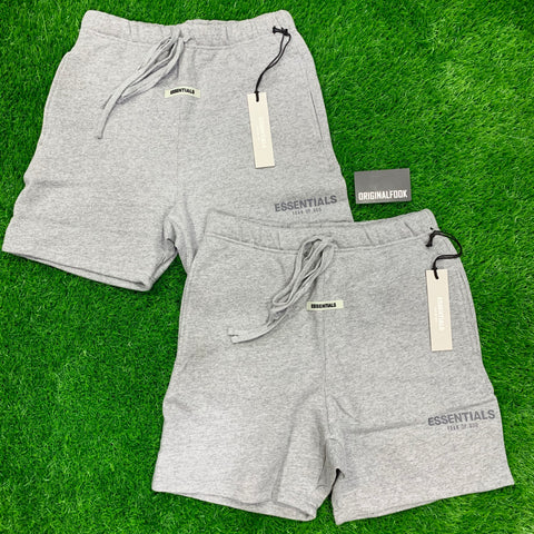 FEAR OF GOD Essentials 3M Reflective Logo Shorts Grey