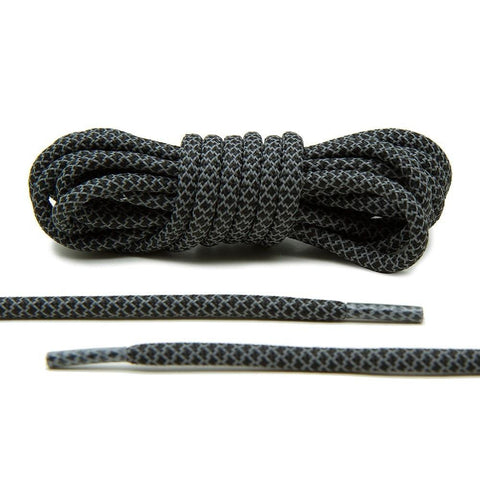 Black 3M Reflective Yeezy Rope Shoelaces