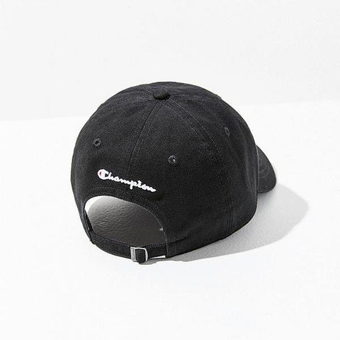 Champion Logo Twill Baseball Cap (Black)