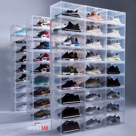 ORIGINALAB Premium Stackable Side Display Hard Case AJ Shoe Box Clear (Magnetic Door)
