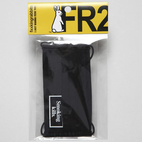 FR2 JAPAN Smoking Kills Face Mask Black