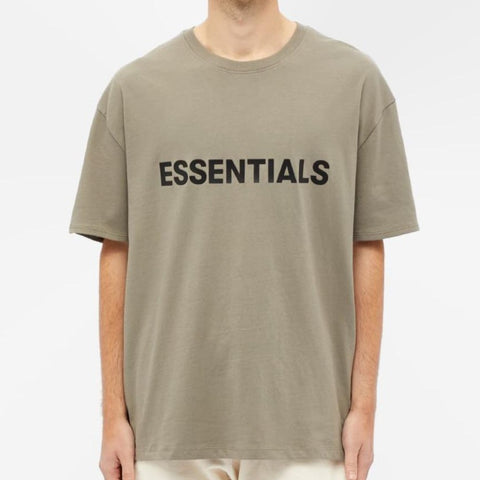 FEAR OF GOD Essentials 3D Logo Tee Taupe