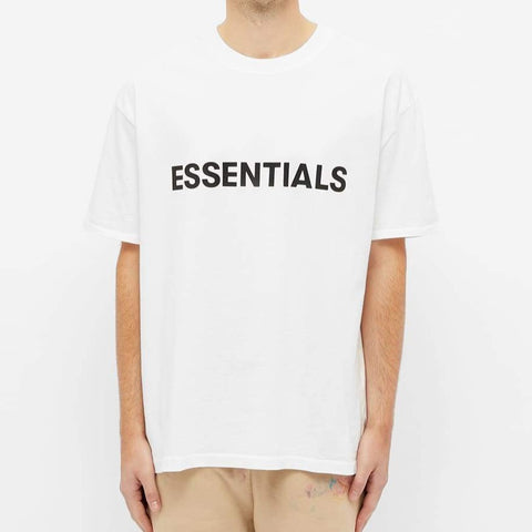 FEAR OF GOD ESSENTIALS 3D LOGO TEE WHITE