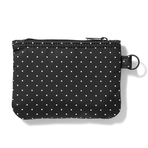 Head Porter Japan Black Beauty White Dot Zip Wallet