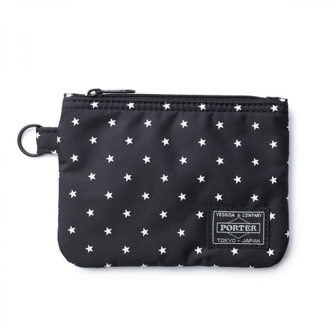 Head Porter Japan Black Beauty Stellar Zip Wallet