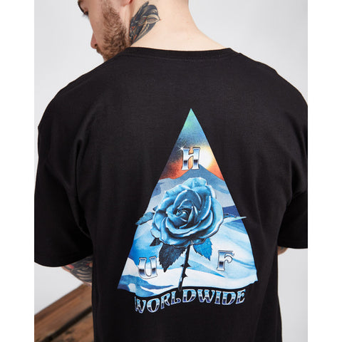 HUF Ice Rose Triangle Tee Black