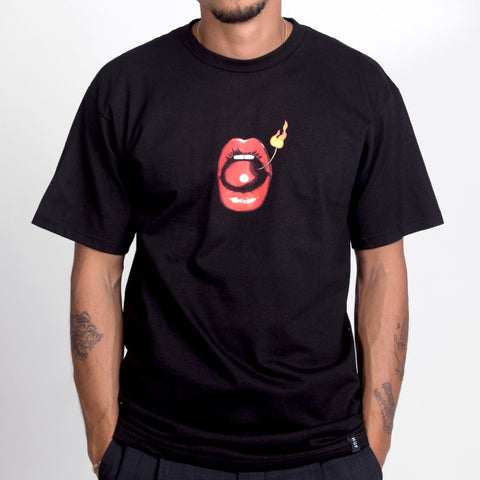 HUF Hot Lips Tee Black