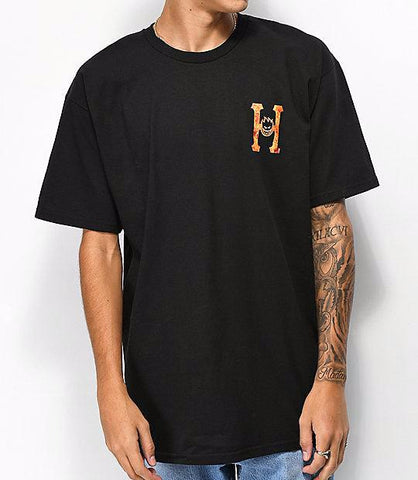 HUF x Spitfire Flaming H Tee Black