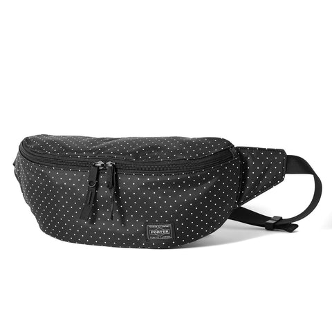 Head Porter Japan Black Beauty White Dot Waist Bag