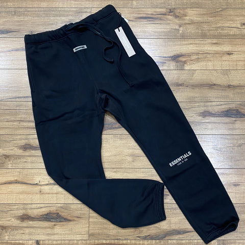 FEAR OF GOD Essentials 3M Reflective Logo Pants Black