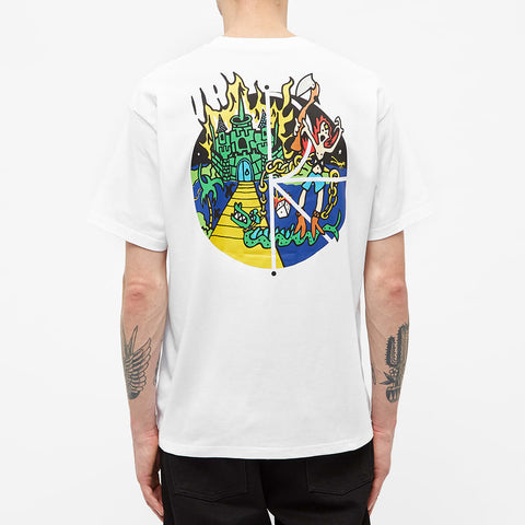 Polar Skate & Co Castle Fill Logo Tee White