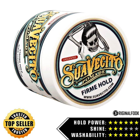 Suavecito Firm Hold Unscented Pomade 4oz