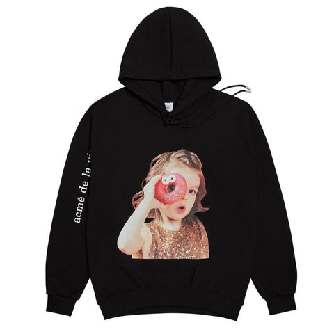ADLV Baby Face Donut 4 Hoodie Black