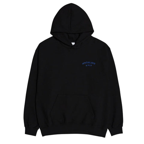 ADLV Two Colors Embroidery Hoodie Black