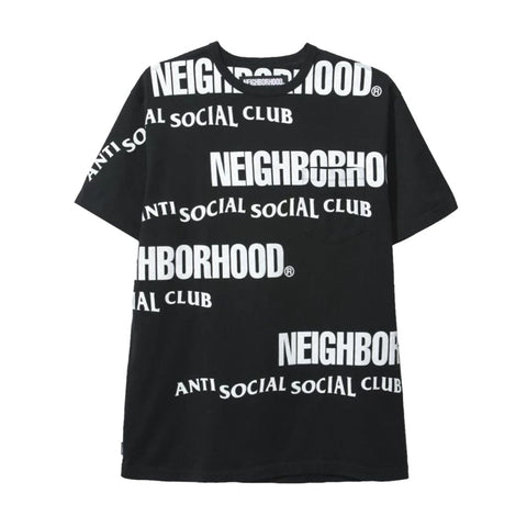 Anti Social Social Club X Neighborhood In Tears Black Tee