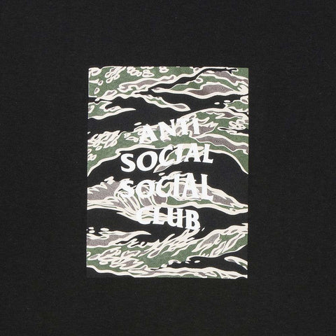 Anti Social Social Club Tiger Camo Box Black Tee