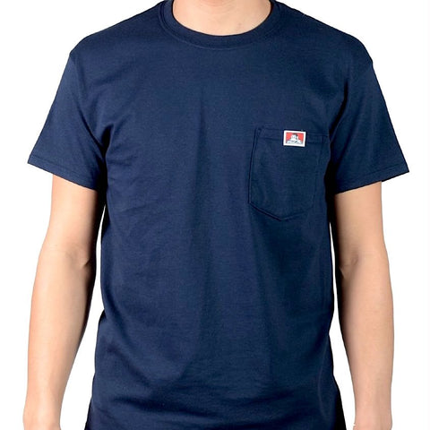 BEN DAVIS Signature Pocket Tee Navy