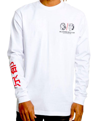 Billionaire Boys Club BB Hot Rod Long Sleeve Tee White
