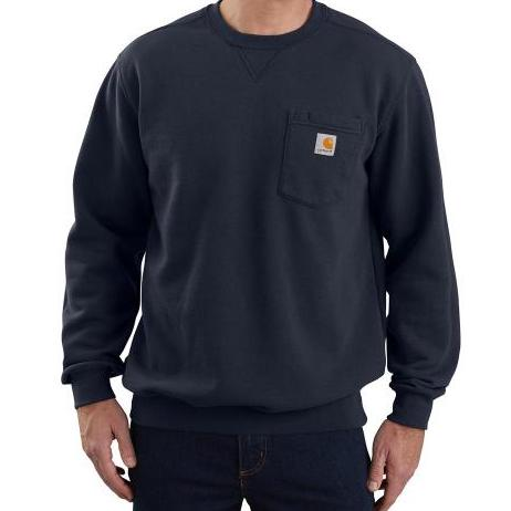 Carhartt USA Crewneck Pocket Sweatshirt New Navy