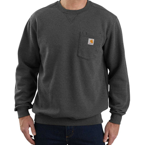 Carhartt USA Crewneck Pocket Sweatshirt Carbon Heather