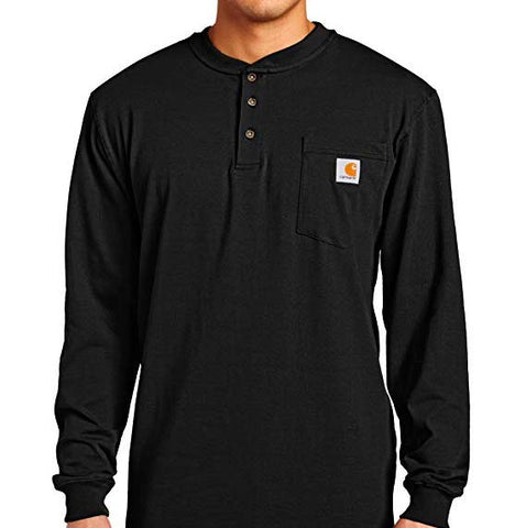 Carhartt Workwear Henley Long Sleeve Tee Black