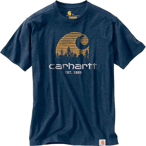 Carhartt USA Maddock Mountain C Tee Indigo Heather