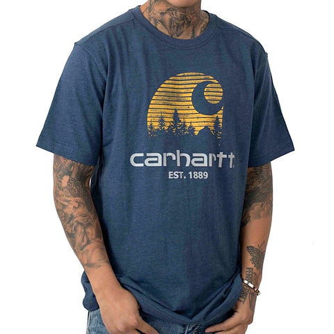Carhartt Maddock Mountain C Tee Indigo Heather