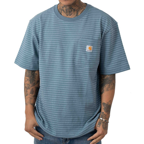 Carhartt Workwear Pocket Tee Steel Blue Stripe