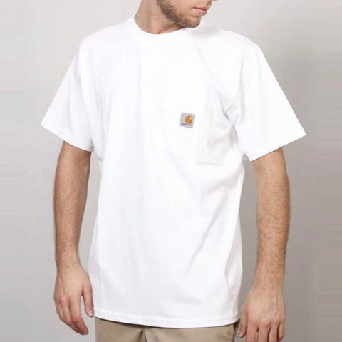 Carhartt USA Workwear Pocket Tee White