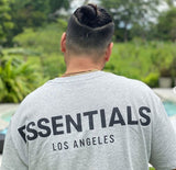FEAR OF GOD Essentials Logo Los Angeles Tee Grey (Exclusive) FEAR OF GOD FEAR OF GOD - originalfook singapore