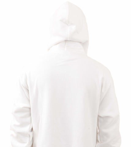 Champion RW Oversized Script Pullover Hoodie White